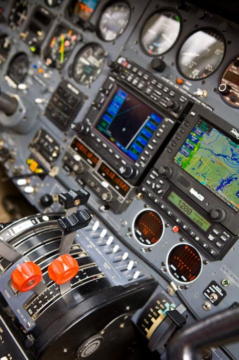 Cessna 421 cockpit instruments