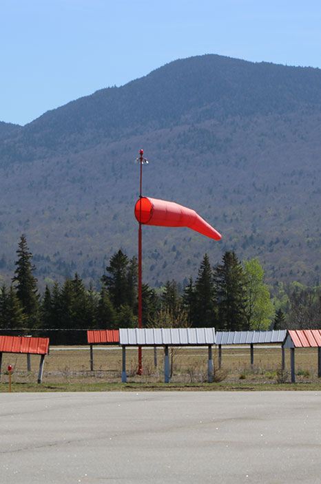 Wind sock at Lake Placid Airport