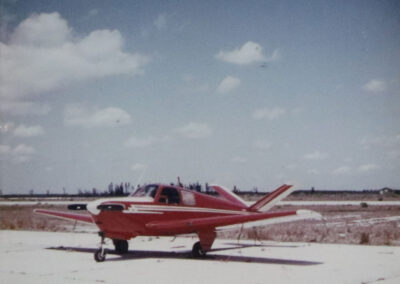 Garry Sellick's red private plane - 1952