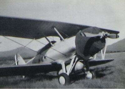 Biplane at Lake Placid Airport - 1936-1937