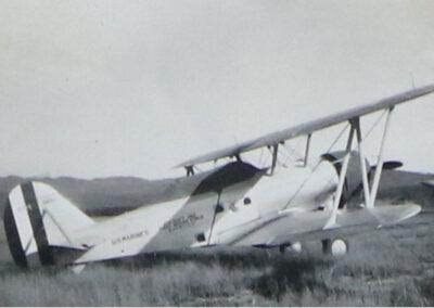 Biplane at Lake Placid Airport - Image 02 - 1936-1937