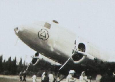 1950's twin engine passenger plane
