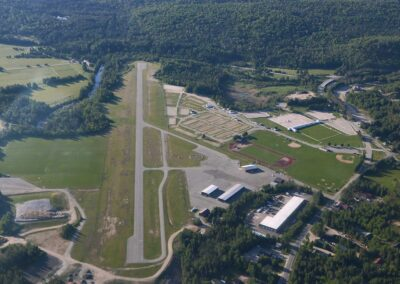 View of Lake Placid Airport with Adirondack Flying Service