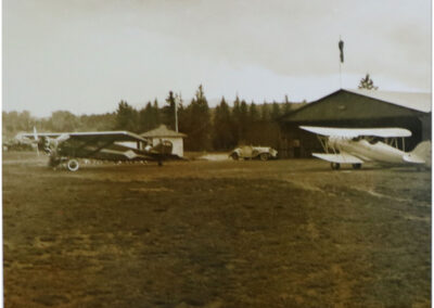 Hangar at Lake Placid Airport - 1920's
