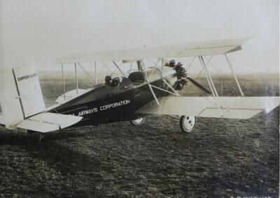 Vintage aircraft at Lake Placid Airport on display