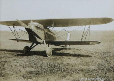 Vintage biplane aircraft at Lake Placid Airport