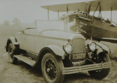 Second image of a vintage car and Spirit of Rochester